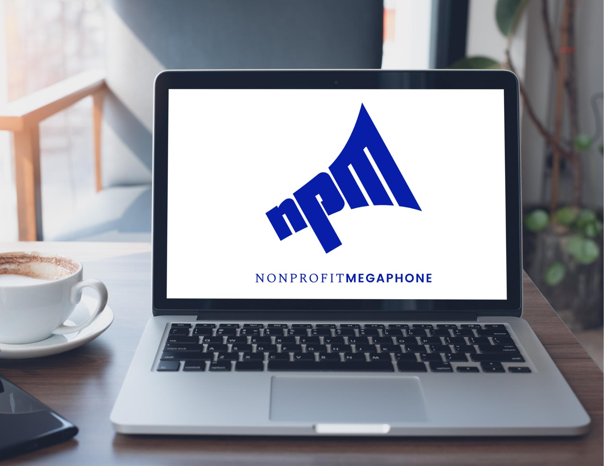 NPM logo on laptop